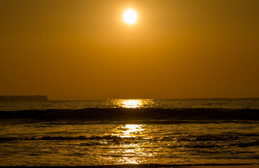 A Sunrise scene in Nagoa beach